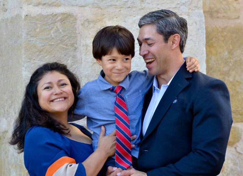 Mayor Ron Nirenberg and family