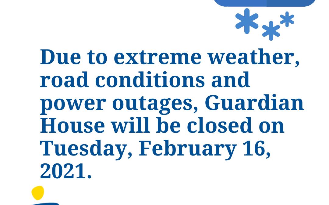Closure Notice – Tuesday 02/16/2021